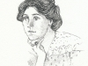Annie Kenney -  pen drawing, Sarah Godsill