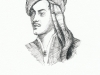 Lord Byron - pen drawing, Sarah Godsill