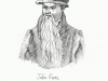 John Knox - pen drawing, Sarah Godsill