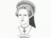 Lady Jane Grey - pen drawing, Sarah Godsill