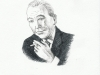 Noël Coward - pen drawing, Sarah Godsill