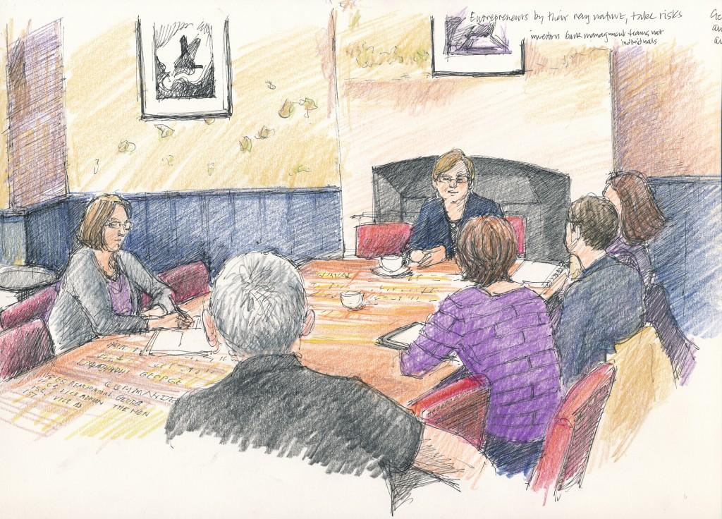 events illustration - Modwenna Rees-Mogg talk, Naval Room, Archangel