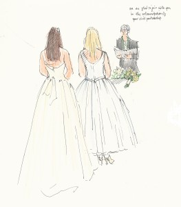 weddings and events illustration - civil partnership 1