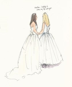 weddings and events illustration - civil partnership 2