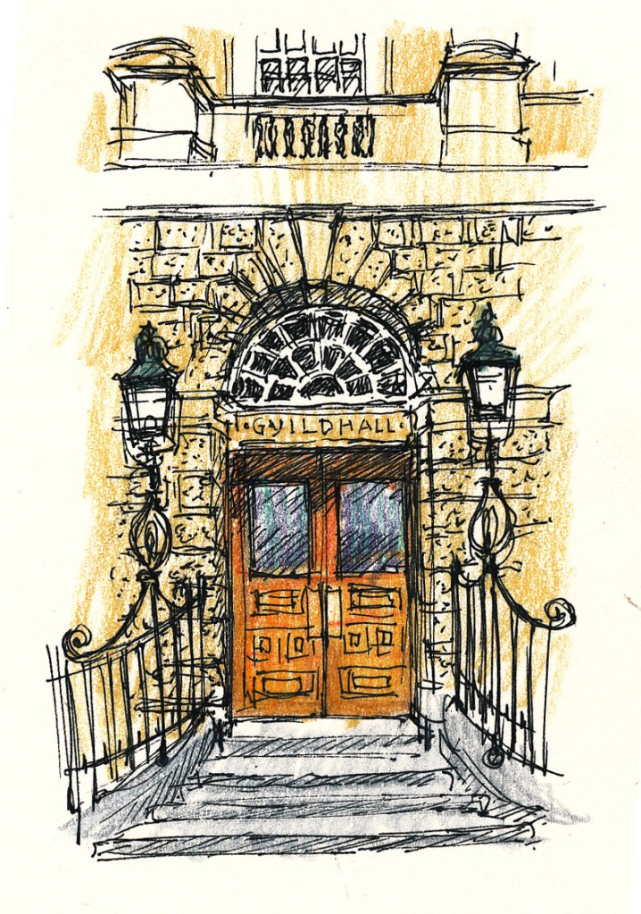wedding and events illustration - Guildhall, Bath