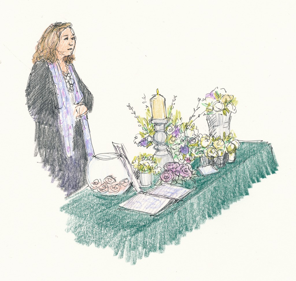 wedding and events illustration - Jill Jeffries flowers