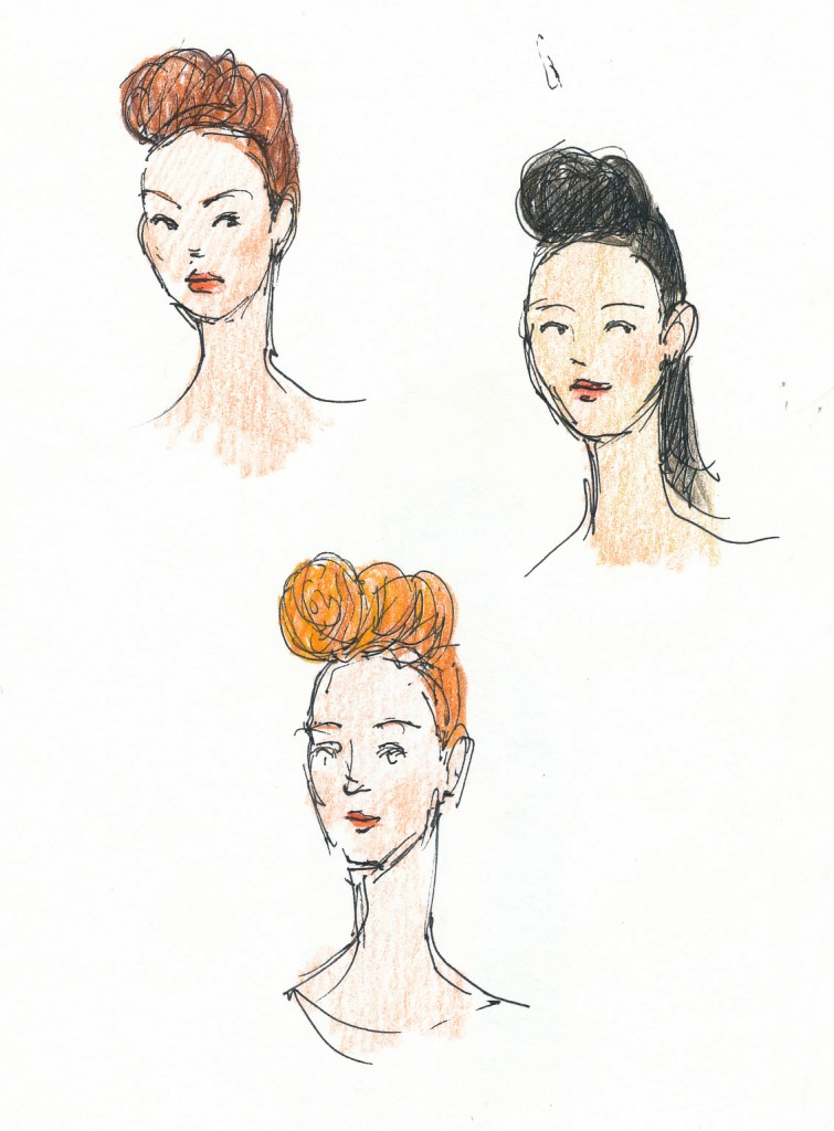 wedding and events illustration - Bath in Fashion, Artizan quiff-ures