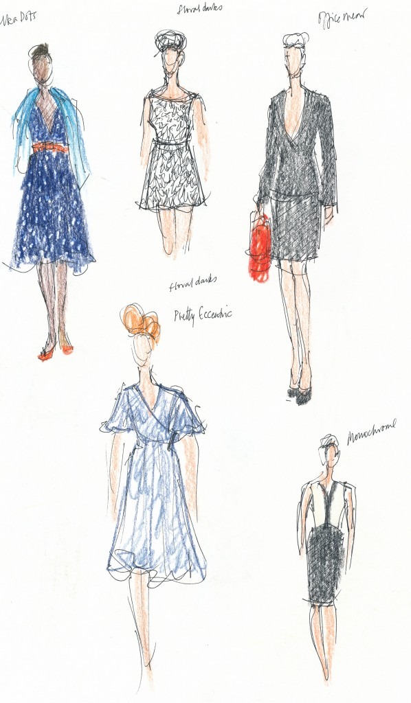wedding and events illustration - Bath in Fashion, SS12 Collection