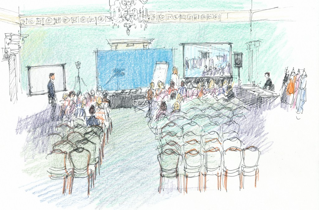 event illustration, Sarah Godsill - Bath Assembly Rooms