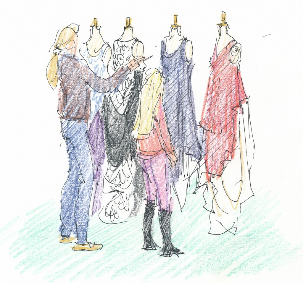 event illustration, Sarah Godsill - Bath in Fashion, Subtraction Cutting